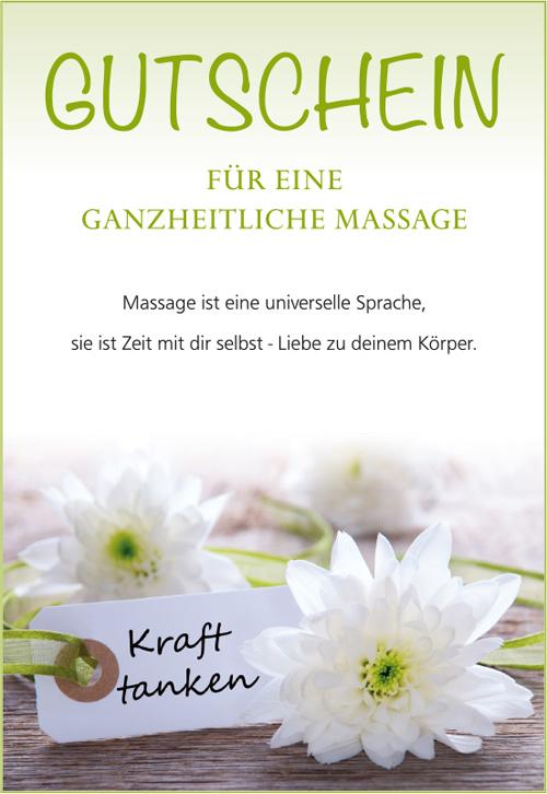 Praxis Wohlklang Berlin Massage-Gutschein